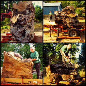 """The process of creating """"Dragon's Head""""."""